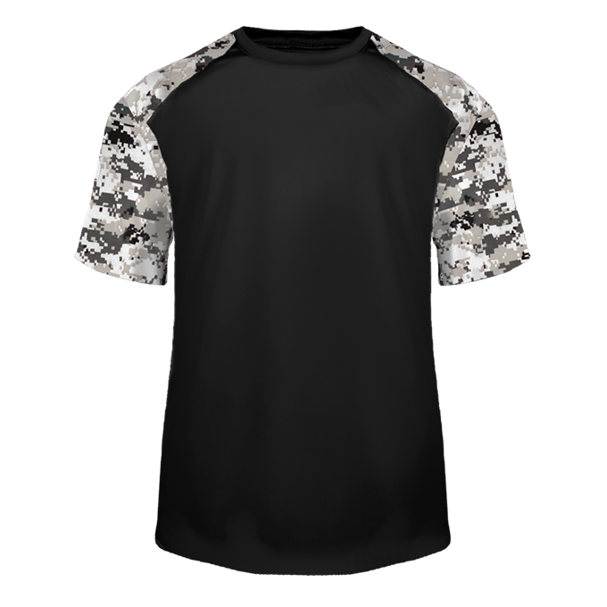 Black/White Badger 4152 Digital Sport Tee