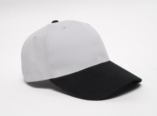 Silver/Black Pacific 101C Brushed Twill
