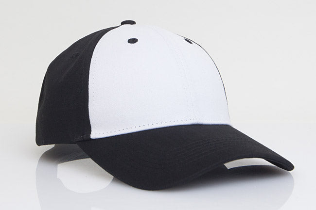White/Black Pacific 101C Brushed Twill