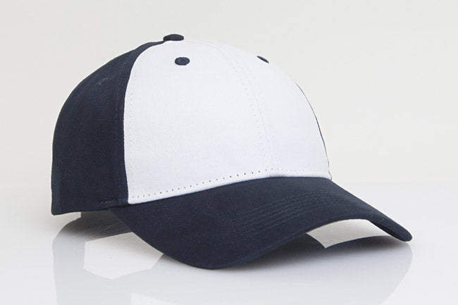 White/Navy Pacific 101C Brushed Twill