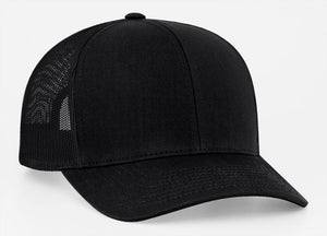 Black/Black Pacific 104C Trucker Mesh