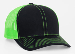 Black/Neon Green Pacific 104C Trucker Mesh