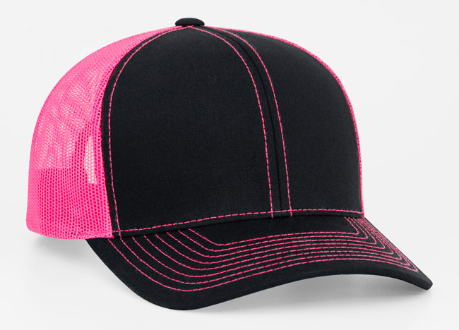 Black/Pink Pacific 104C Trucker Mesh