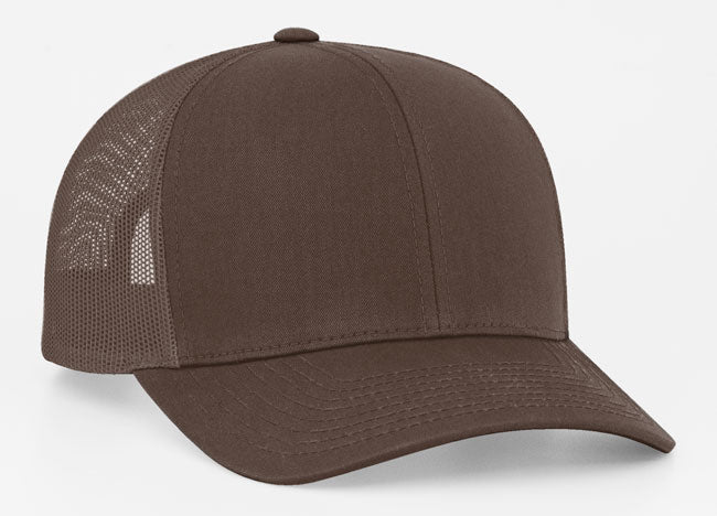Brown/Brown Pacific 104C Trucker Mesh