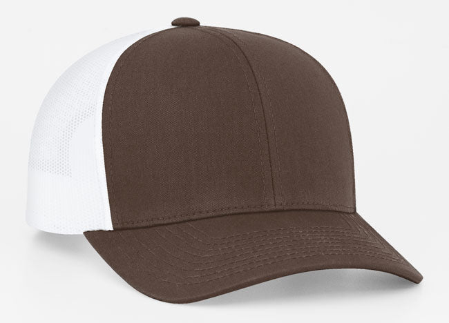 Brown/White Pacific 104C Trucker Mesh