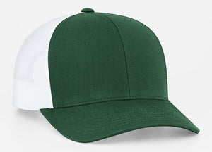 Dark Green/White Pacific 104C Trucker Mesh