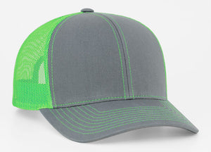 Graphite/Neon Green Pacific 104C Trucker Mesh
