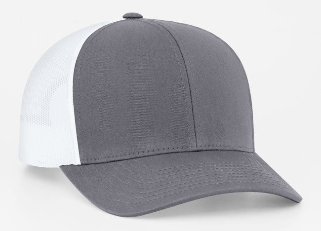 Graphite/White Pacific 104C Trucker Mesh