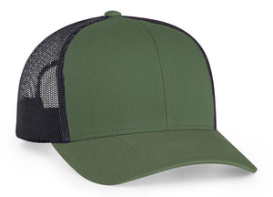 48cd4497da8 Moss Green Light Charcoal Pacific 104C Trucker Mesh