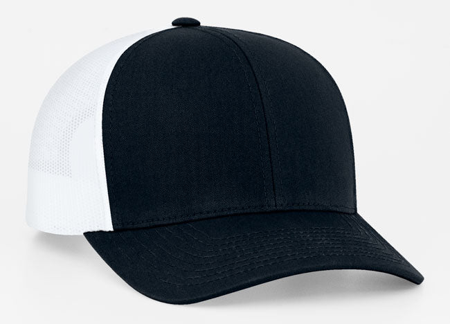 Dark Navy/White Pacific 104C Trucker Mesh