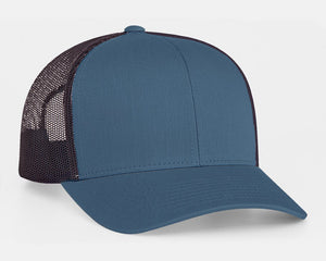Ocean Blue/Charcoal Pacific 104C Trucker Mesh