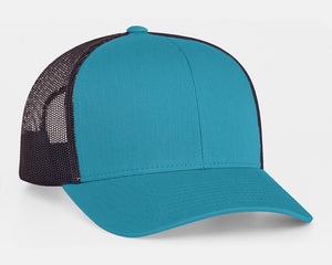 Panther Teal/Charcoal Pacific 104C Trucker Mesh