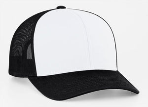 White/Black Pacific 104C Trucker Mesh