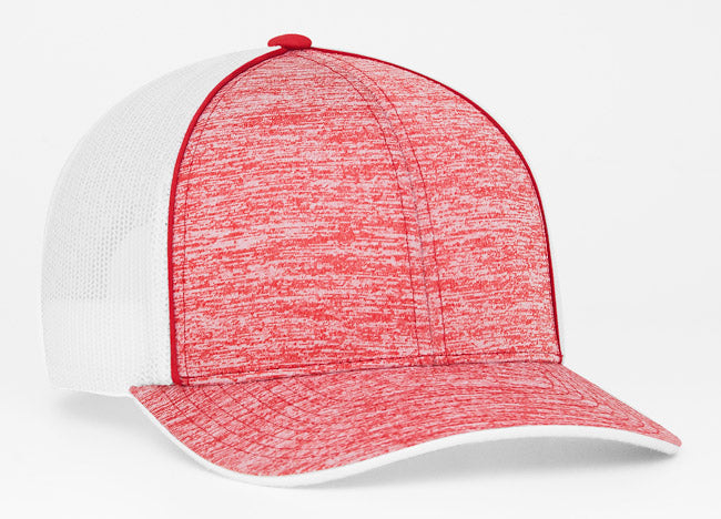 Red Pacific 106C Heather Mesh