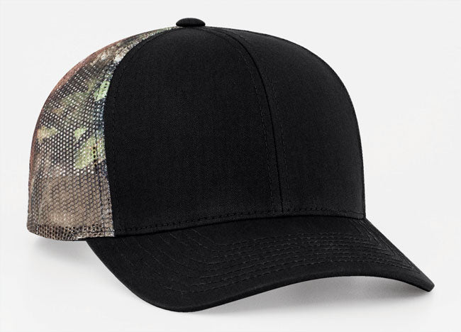 Black/Break-Up Country Pacific 108C Trucker Mesh