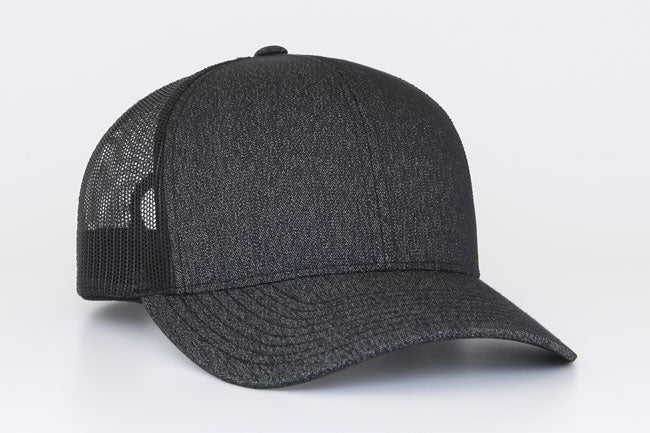 Black Black Pacific 110C Heather Trucker Mesh – Get Stuck 81bd3e58953