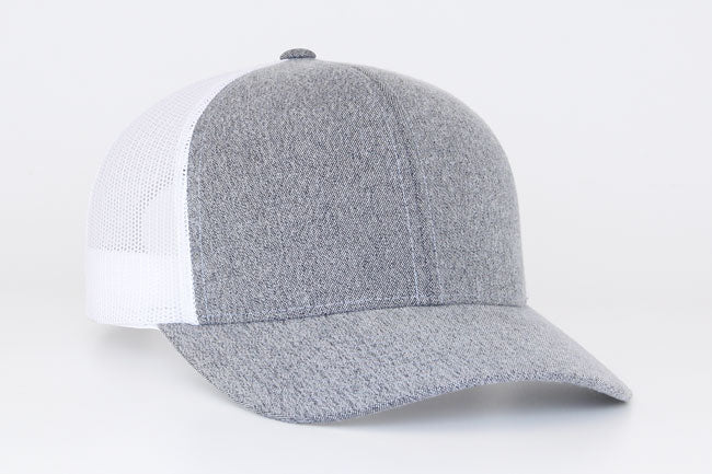 Gray/White Pacific 110C Heather Trucker Mesh
