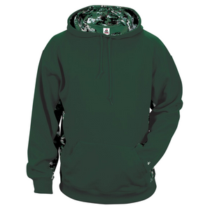 Forest/Forest Badger 2464 Digital Colorblock Youth Hood
