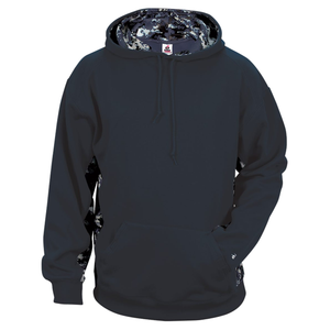 Navy/Navy Badger 2464 Digital Colorblock Youth Hood