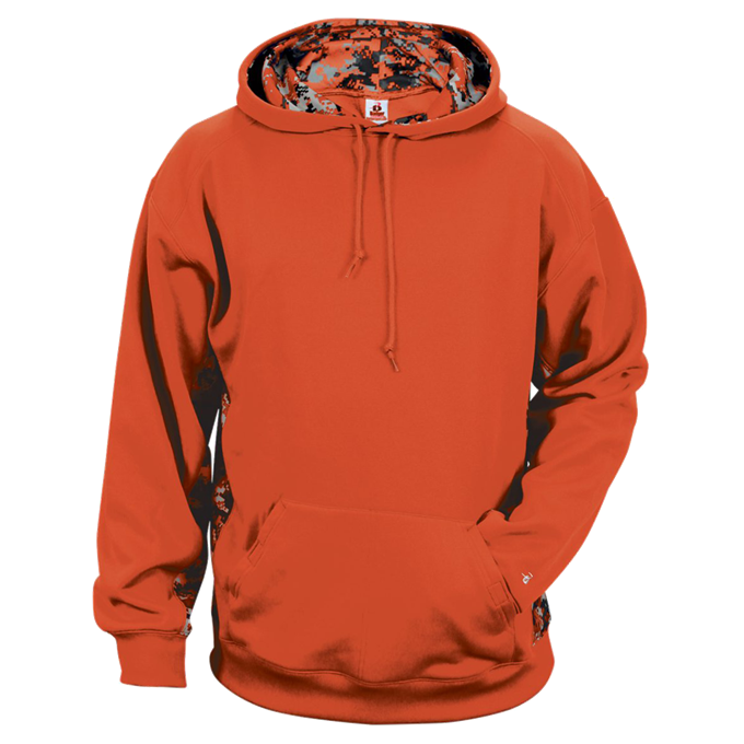 Burnt Orange/Burnt Orange Badger 2464 Digital Colorblock Youth Hood