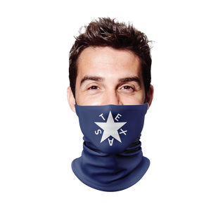 First Republic of Texas Flag Gaiter Face Mask