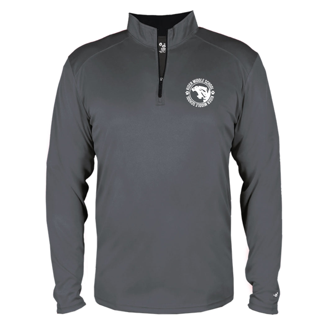 Solid Quarter Zip Jacket