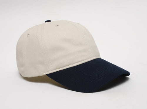 Khaki/Navy Pacific 201C Brushed Cotton Twill