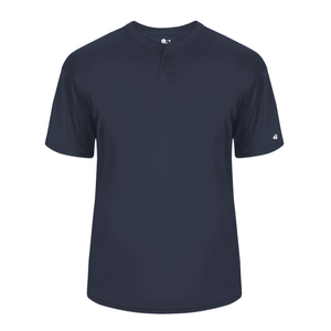 Navy Badger 2930 B-Core Youth Placket
