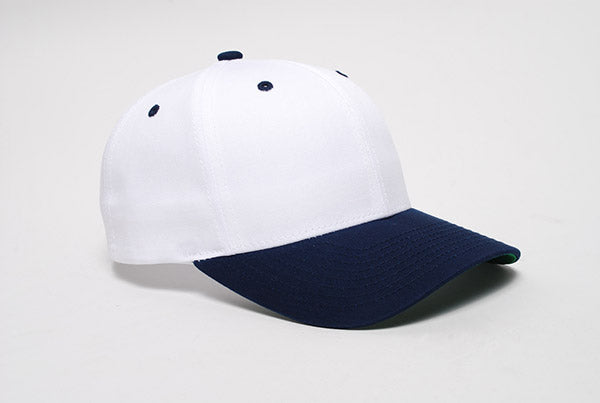 White/Navy Pacific 302C Cotton-Poly