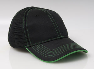Black/Kelly Pacific 355M Soft Trucker Mesh