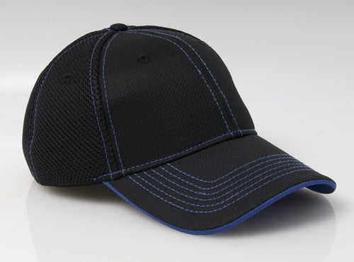 Black/Royal Pacific 355M Soft Trucker Mesh