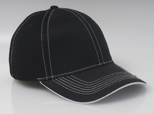 Black/White Pacific 355M Soft Trucker Mesh
