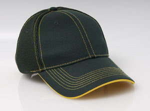 Dark Green/Gold Pacific 355M Soft Trucker Mesh