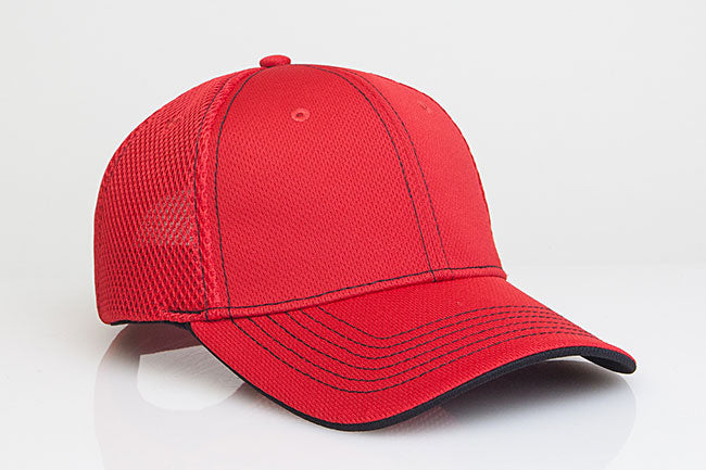 Red/Black Pacific 355M Soft Trucker Mesh