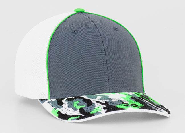 Graphite/Neon Green Pacific 402F Glamo Trucker Mesh