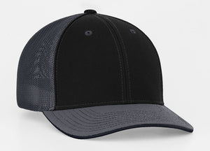 Pacific Headwear 404M Trucker Mesh Custom Baseball Caps Black/Graphite