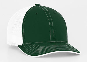 Dark Green/White Pacific 404M Universal Trucker Mesh Hat