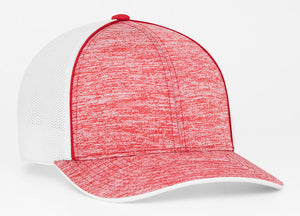 Red Pacific 406F Heather Trucker Mesh