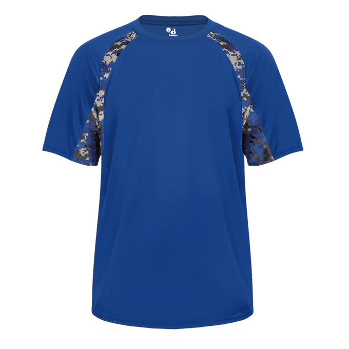 Royal/Royal Badger 2140 Digital Hook Youth Tee