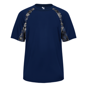 Navy/Navy Badger 4140 Digital Hook Tee