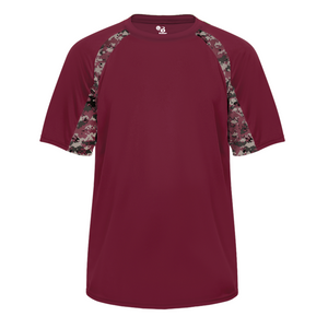 Maroon/Maroon Badger 4140 Digital Hook Tee