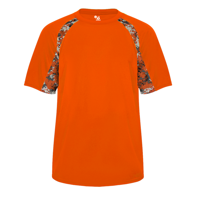 Burnt Orange/Burnt Orange Badger 2140 Digital Hook Youth Tee