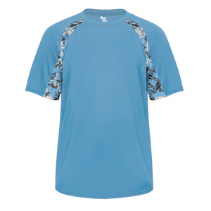 Columbia Blue/Columbia Blue Badger 2140 Digital Hook Youth Tee