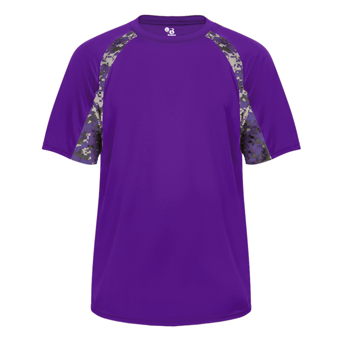 Purple/Purple Badger 2140 Digital Hook Youth Tee