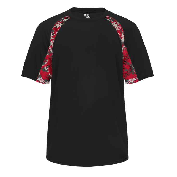 Black/Red Badger 4140 Digital Hook Tee