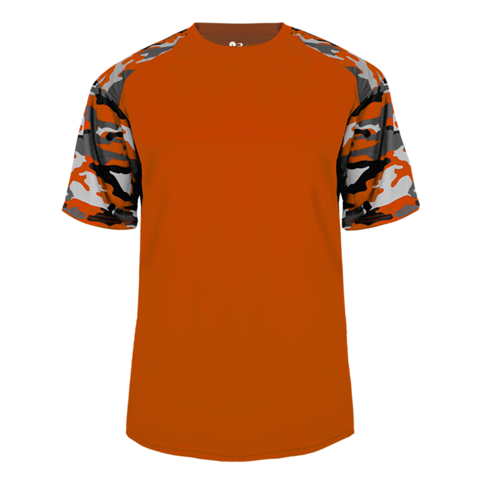 Burnt Orange/Burnt Orange Badger 2141 Camo Sport Youth Tee