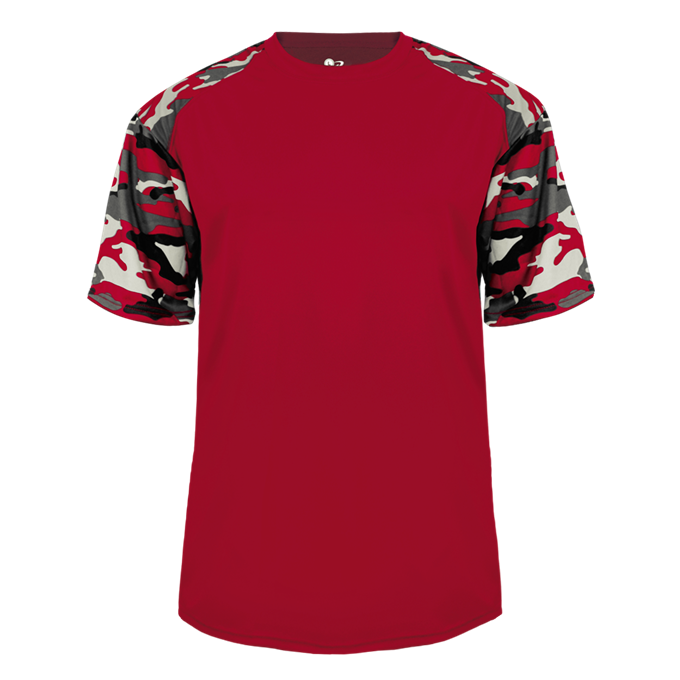 Red/Red Badger 4141 Camo Sport Tee