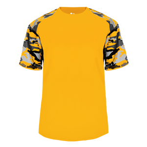 Gold/Gold Badger 2141 Camo Sport Youth Tee