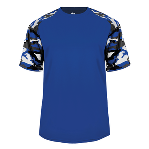 Royal/Royal Badger 2141 Camo Sport Youth Tee