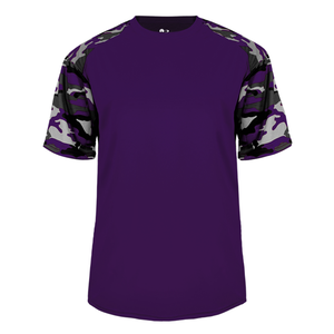 Purple/Purple Badger 4141 Camo Sport Tee